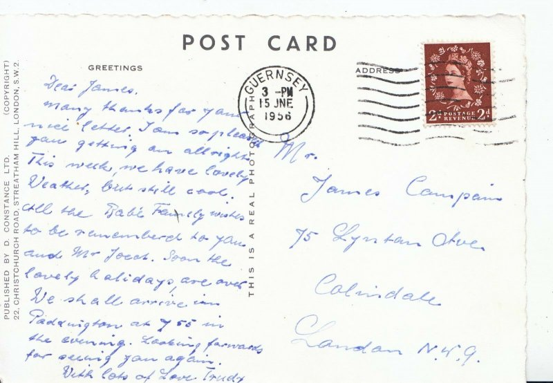 Genealogy Postcard - Family History - Campain - Colindale - London N.W.9   U454