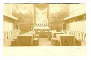 RP; Monastry Interior, Dining room,  ROMA , Italy, 1890s