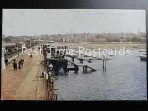 Isle of Wight RYDE from the Pier showing RNLI SLIPWAY & STATION - Old Postcard