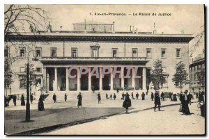 Old Postcard Aix en Provence Courthouse