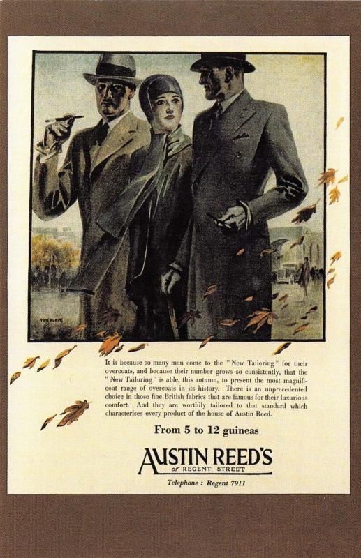 Nostalgia Postcard 1929 Austin Reed Advertisement Mens Fashion Repro Card Ns8 Hippostcard