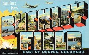 LP27 Large Letters Buckley Field Colorado Vintage Postcard Military