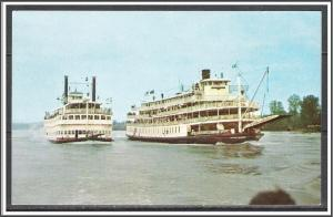 Kentucky, Louisville Steamboat Racing Ohio River - [KY-004]