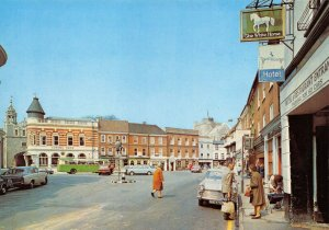 Vintage Hampshire Postcard, The Square, Romsey, Classic Cars & Bus GJ1