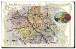 Old Postcard geographical maps of Chocolaterie & # 39Aiguebelle Dawn
