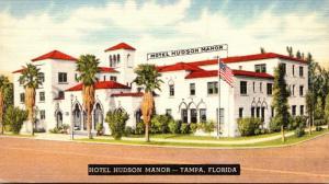 Florida Tampa Hotel Hudson Manor 1950