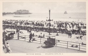 New Jersey Atlantic City Bathing Scene Albertype sk1744