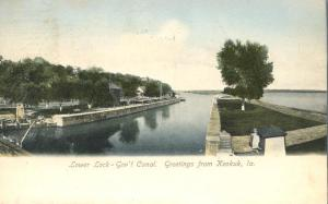 Lower Lock on Government Canal - Greetings from Keokuk, Iowa - DB