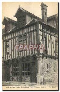 Old Postcard Old House Moret Sucre d & # 39Orge religious Moret