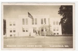Court House Marshfield Missouri 1943 RPPC Real Photo postcard