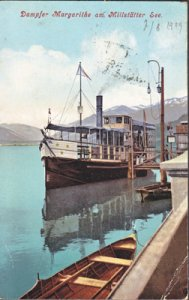 Lake Millstatt Austria - LAKE STEAMER  The Margarithe 1900s