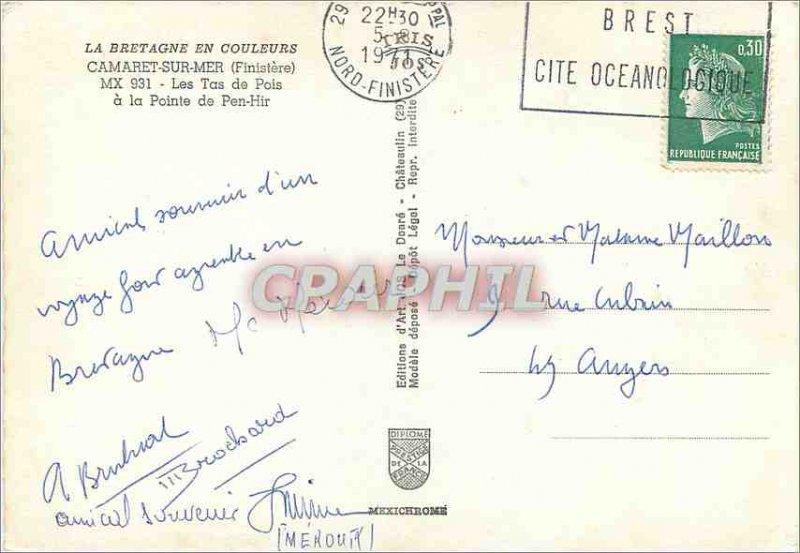 Postcard Modern Camaret sur Mer Finistere Tas de Pois has the Pointe de Pen Hir