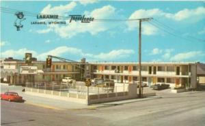 Laramie Travel Lodge, Laramie, Wyoming, 1960s unused Post...