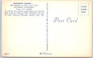 LA MESA, California CA Retirement Apartments GROSSMONT GARDENS Pool Postcard