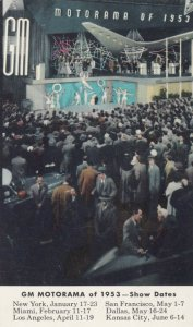 GM Motorama of 1953, Show Dates, Performers