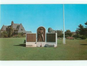 Vintage Post Card World War II Memorial Monument Florence Kane   R I   # 4126