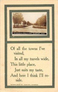 G24/ Gladstone Michigan RPPC Postcard 1912 Bay Shore Drive In Park