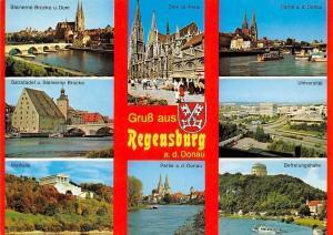 Gruss aus Regensburg an der Donau, Dom Walhalla, Partie Unviersitaet