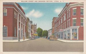 LYONS, New York, 1930-1940's; William Street and Business District