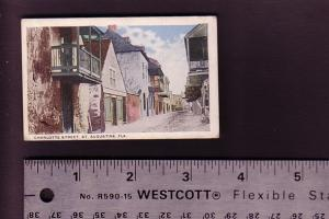 Mini Postcard, Charlotte St, St Augustine, Florida, 2 1/4 X 3 1/2 Inches,