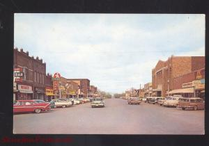 MOBRIDGE SOUTH DAKOTA DOWNTOWN MAIN STREET SCENE VINTAGE POSTCARD STORES