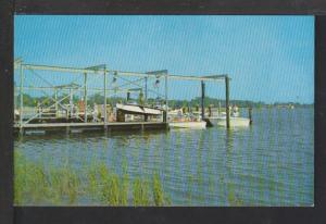 Yacht Club Basin,Brunswick,GA Postcard