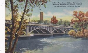 Illinois Aurora Fox River Bridge Curteich