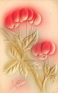Cherries embossed, air brushed Novelty Unused