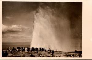 Iceland Geysir Real Photo
