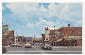 Carson Street Cars Carson City Nevada 1950s postcard