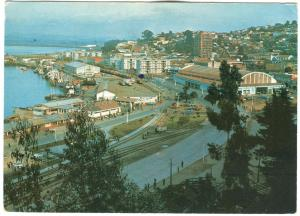 Chile, Puerto de Talcahuano Seaport, 1978 used Postcard