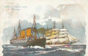 Norddeutscher Llyod Bremen Dampfer Friedrich Der Grosse , 1908
