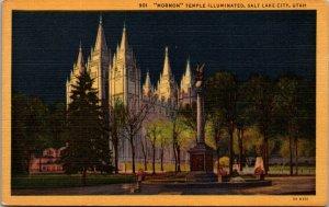 [SOLD] Salt Lake City Utah LDS Mormon Temple Church Latter Day Saints Postcard V