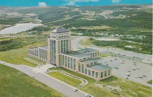 Aerial View Of Confederation Building, St. John's, Newfoundland, Canada, 1940...