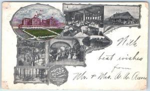 Cambridge Springs, Pennsylvania Postcard HOTEL RIDER Multi-View 1904 Cancel