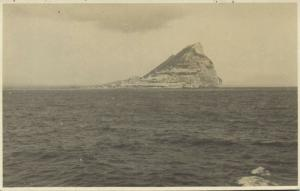 gibraltar, Rock from the West (1910s) RP