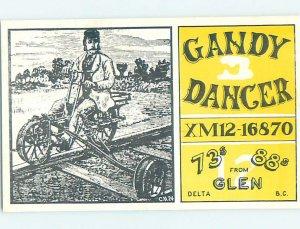 Pre-1980 RADIO CARD - CB HAM OR QSL Glen Delta British Columbia BC AH2868