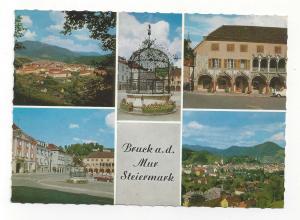 Austria Styria Bruck an Der Mur Steiermark Multiview Vintage 4X6 Postcard