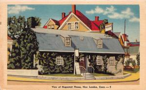 View of Huguenot House, New London, Connecticut, Early Linen Postcard, Unused