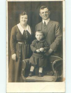Pre-1930 rppc FAMILY PICTURE Studio In Pittsburgh Pennsylvania PA i9424