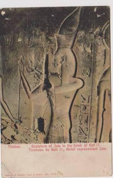 Sculpture of Jsis in the Tomb of Seti II, Thebes, Egypt 1900-10s