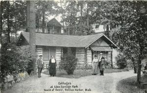 Benton Harbor Michigan~House of David~Log Cabin Cottages~Vintage Couples~1920s