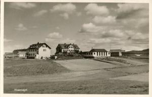 iceland, HVANNEYRI, Panorama (1950s) RPPC Postcard