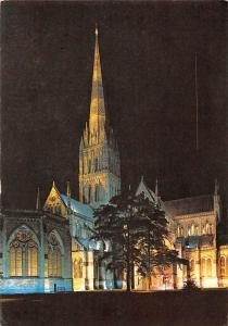 Salisbury Cathedral Floodlit for Son et Lumiere