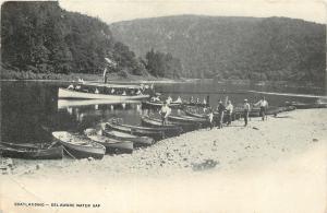 Delaware Water Gap~Rowboat & Excursion Boat landing~1905 Postcard