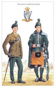 Postcard The British Army Series No.41 The Royal Irish Rangers by Geoff White
