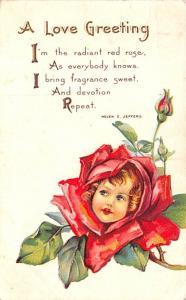 Valentines Day Post Card Old Vintage Antique Postcard 1915