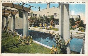 Stanford University California~Home & Swimming Pool President Hoover~1920