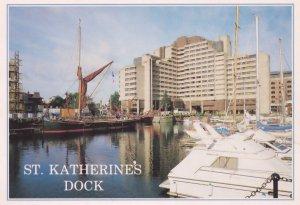 St Katherines Dock London 1970s Postcard