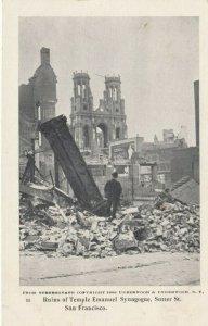 SAN FRANCISCO, California, 1906; Jewish Temple Earthquake Ruins